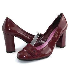 """Isaac Mizrahi Red Patent Leather """"Jasmine"""" Heels 9"""